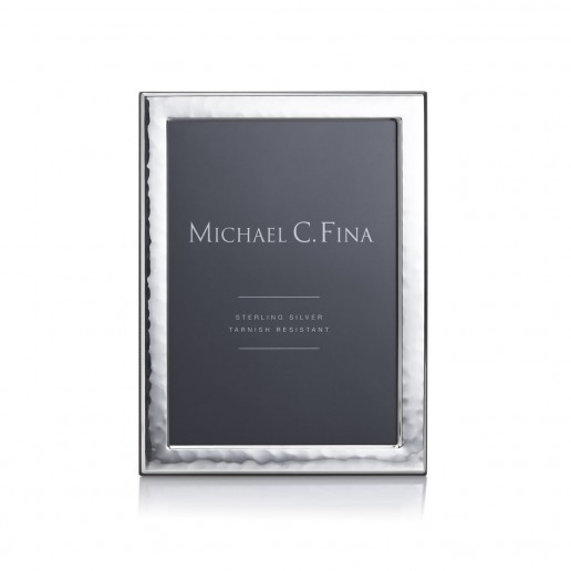 Michael C. Fina Manhattan Hammered Sterling Silver Frame 5x7