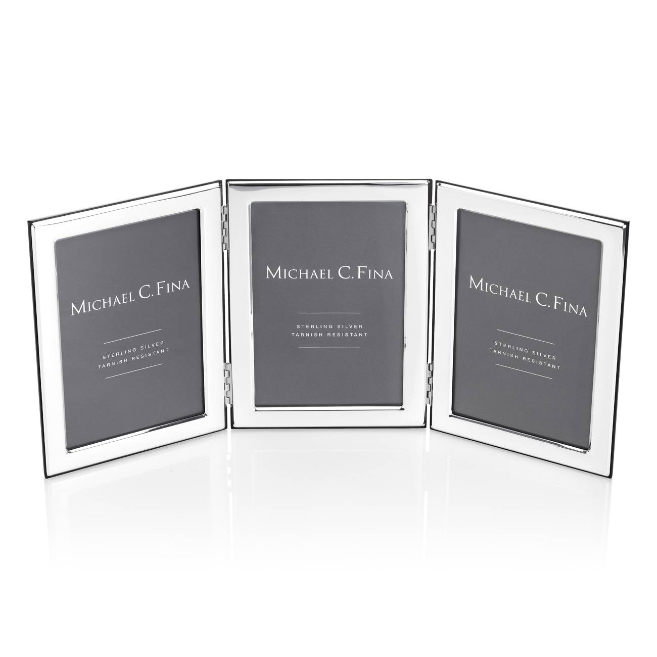 Michael C. Fina Manhattan Sterling Silver Triple Frame 4x6 - Michael ...