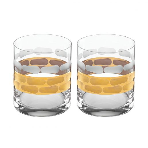 Michael Wainwright Truro Gold Double Old Fashioned, Set of 2