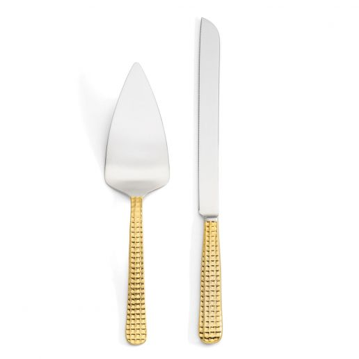 Michael Wainwright Manhattan Gold Cake Knife & Server Set