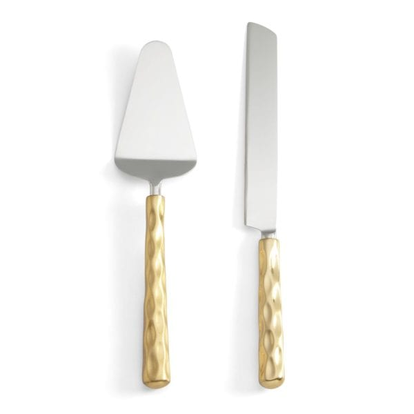 Michael Wainwright Truro Gold Cake Knife & Server Set