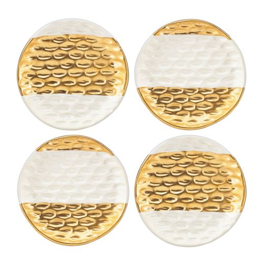 Michael Wainwright Truro Gold Canape Plates, Set of 4