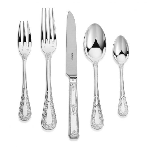 Puiforcat Monthelie Silver Plated Flatware Collection