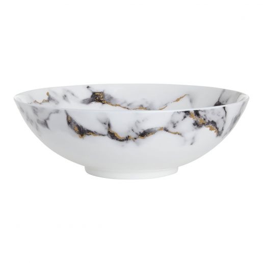 Prouna Marble Venice Fog Serving Bowl