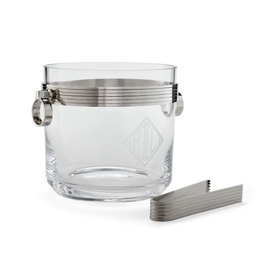 Ralph Lauren Bentley Ice Bucket with Tongs