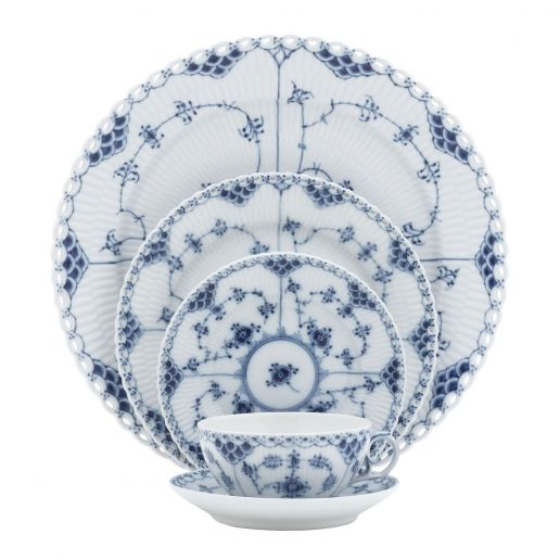 Royal Copenhagen Blue Fluted Full Lace Collection
