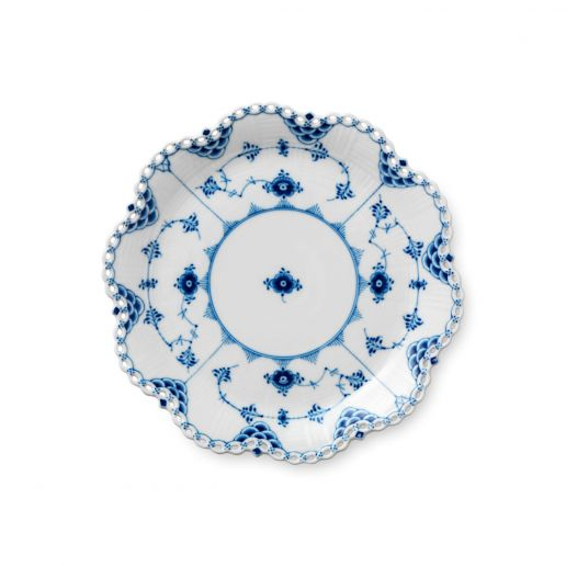 Royal Copenhagen Blue Fluted Full Lace Round Dish