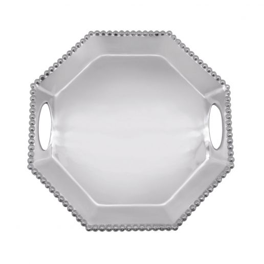 Mariposa  String of Pearls Octagonal Tray