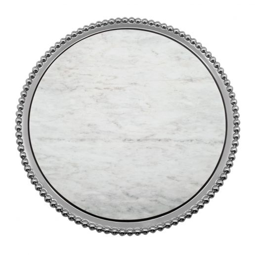 Mariposa  String of Pearls Marble Round Platter