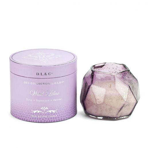 D.L. & Co. Geo Collection Wild Lilac Candle, 14-Ounce