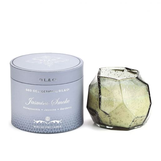 D.L. & Co. Geo Collection Jasmine Smoke Candle, 14-Ounce
