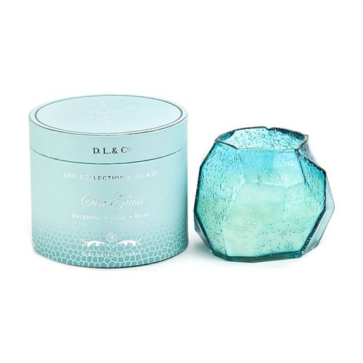 D.L. & Co. Geo Collection Sea Glass Candle, 14-Ounce