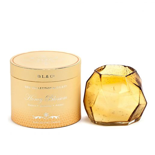 D.L. & Co. Geo Collection Honey Blossom Candle, 14-Ounce