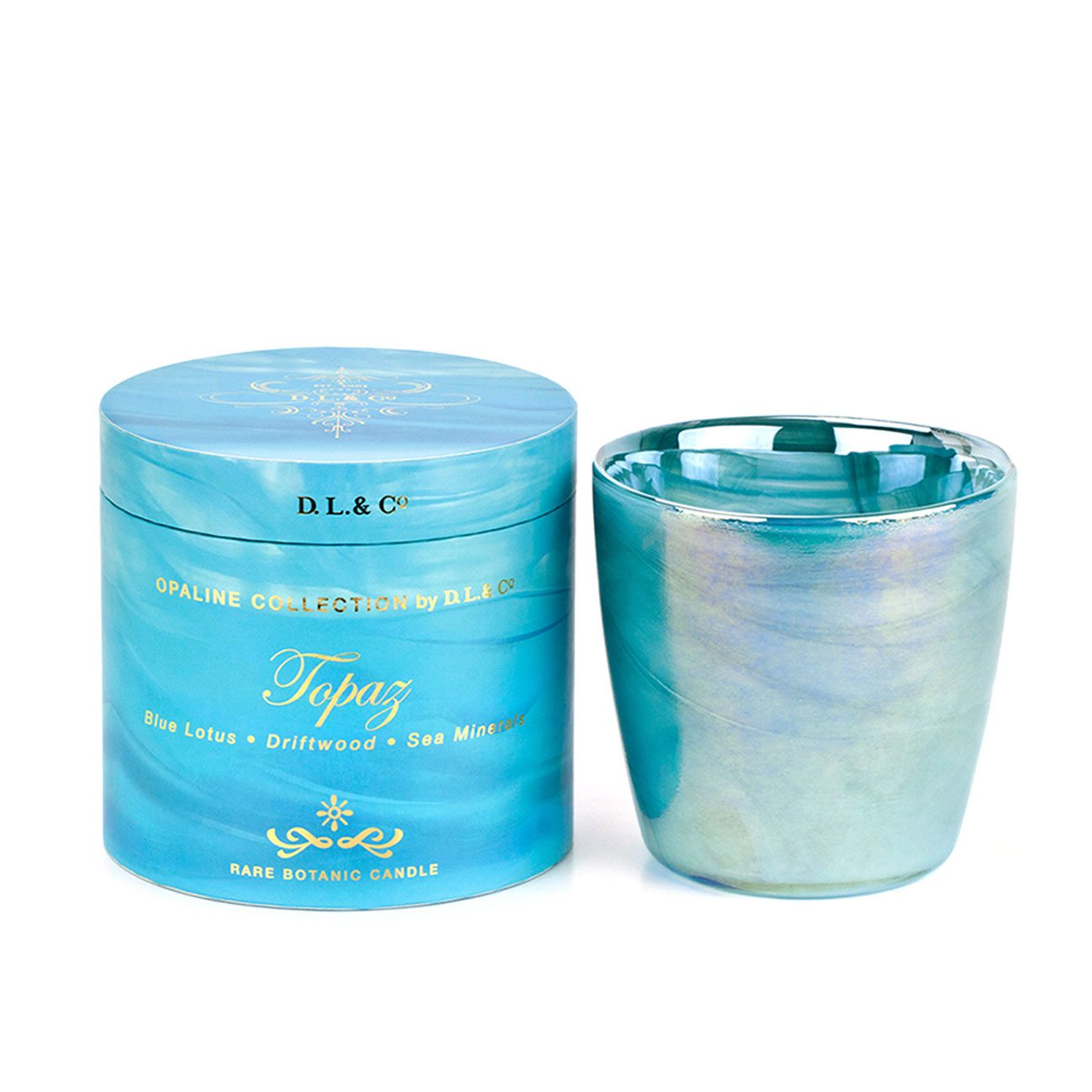 D.L. & Co.  Opaline Collection Topaz Candle, 17-Ounce