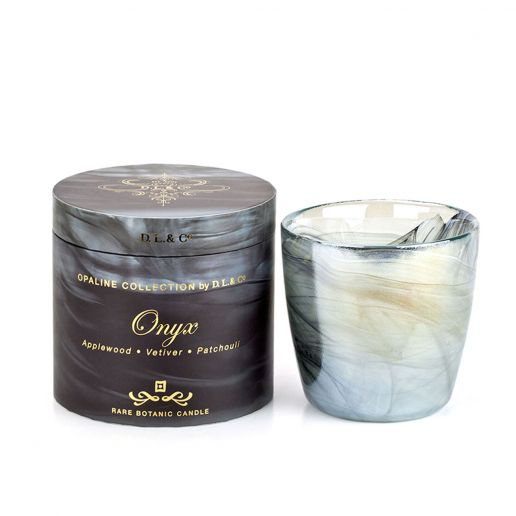D.L. & Co.  Opaline Collection Onyx Candle, 17-Ounce