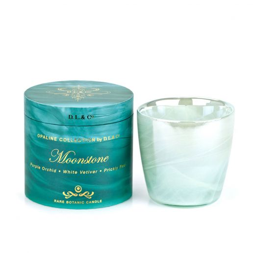 D.L. & Co.  Opaline Collection Moonstone Candle, 17-Ounce