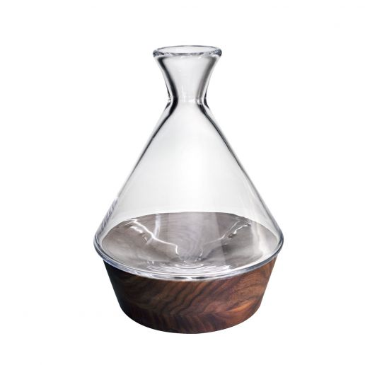 Simon Pearce Ludlow Carafe with Wood Base