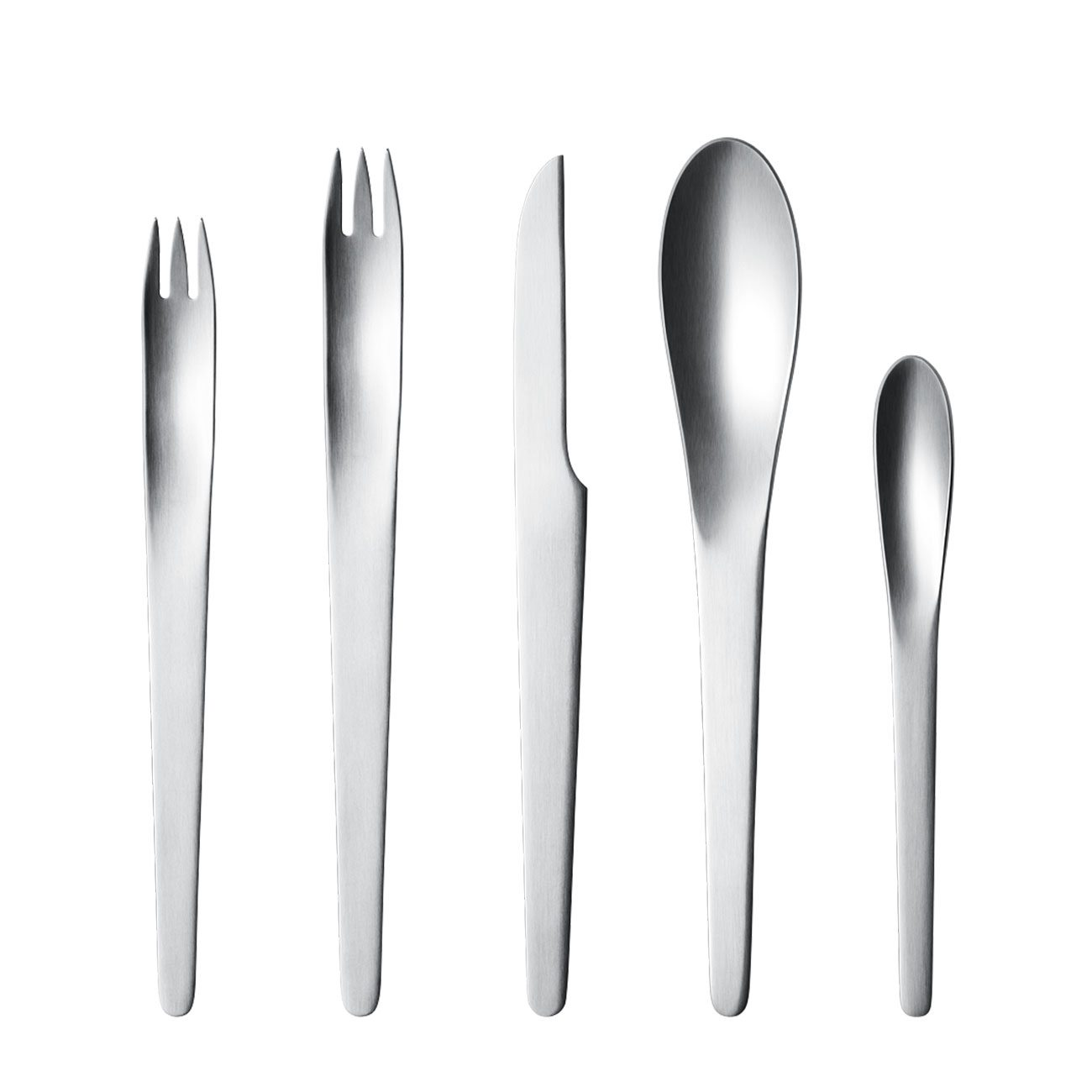 George Jensen Arne Jacobsen Stainless Steel Flatware Collection