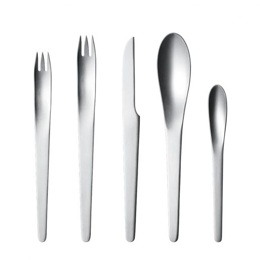 Georg Jensen Arne Jacobsen Stainless Steel Matte Five Piece Place Setting