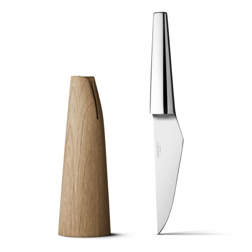 Georg Jensen Barbry Stainless Steel & Oak Wood Paring Knife