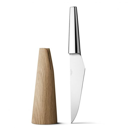 Georg Jensen Barbry Stainless Steel & Oak Wood Chef Knife