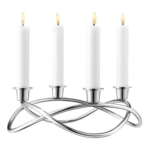 Georg Jensen Season Stainless Steel Candleholder