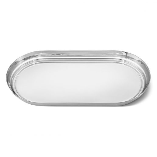 Georg Jensen Stainless Steel & Leather Manhattan Tray