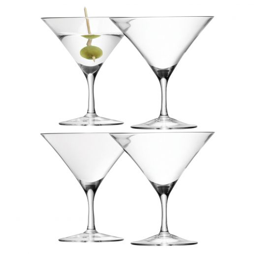LSA International Bar Martini Glass, Set of 4