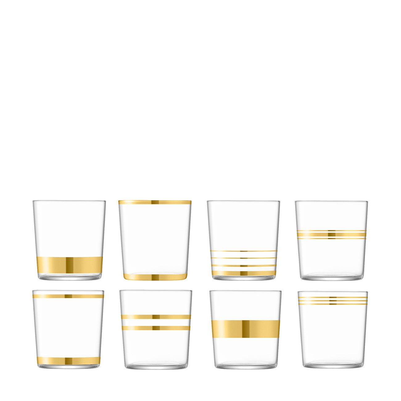 LSA International Deco Assorted Tumbler, Set of 8
