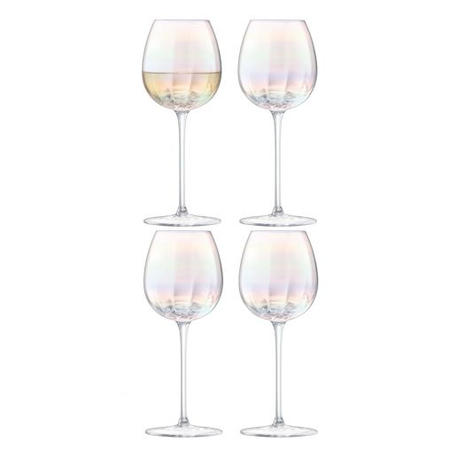 LSA International Pearl White Wine Glass, Set of 4