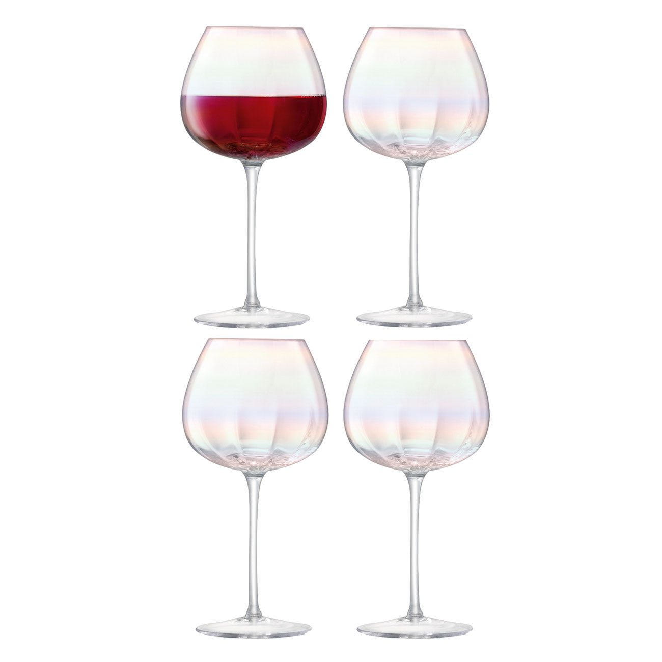 LSA International Pearl Red Wine Glass, Set of 4