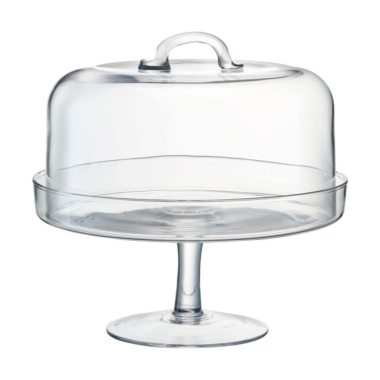 Lsa Glass Cake Stand With Dome