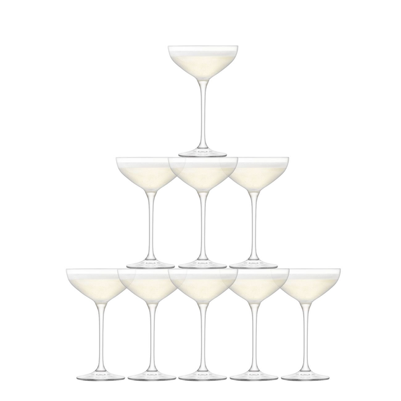 LSA International Tower Champagne Set Clear
