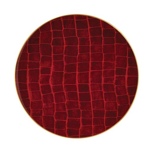Prouna Alligator Ruby Charger Plate