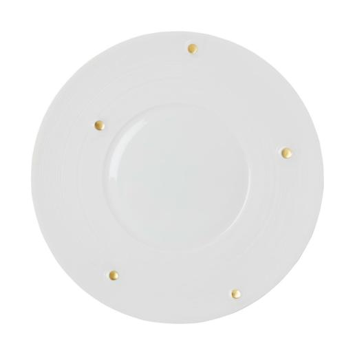 Jean-Louis Coquet Lutece Satin & Gold Charger Plate