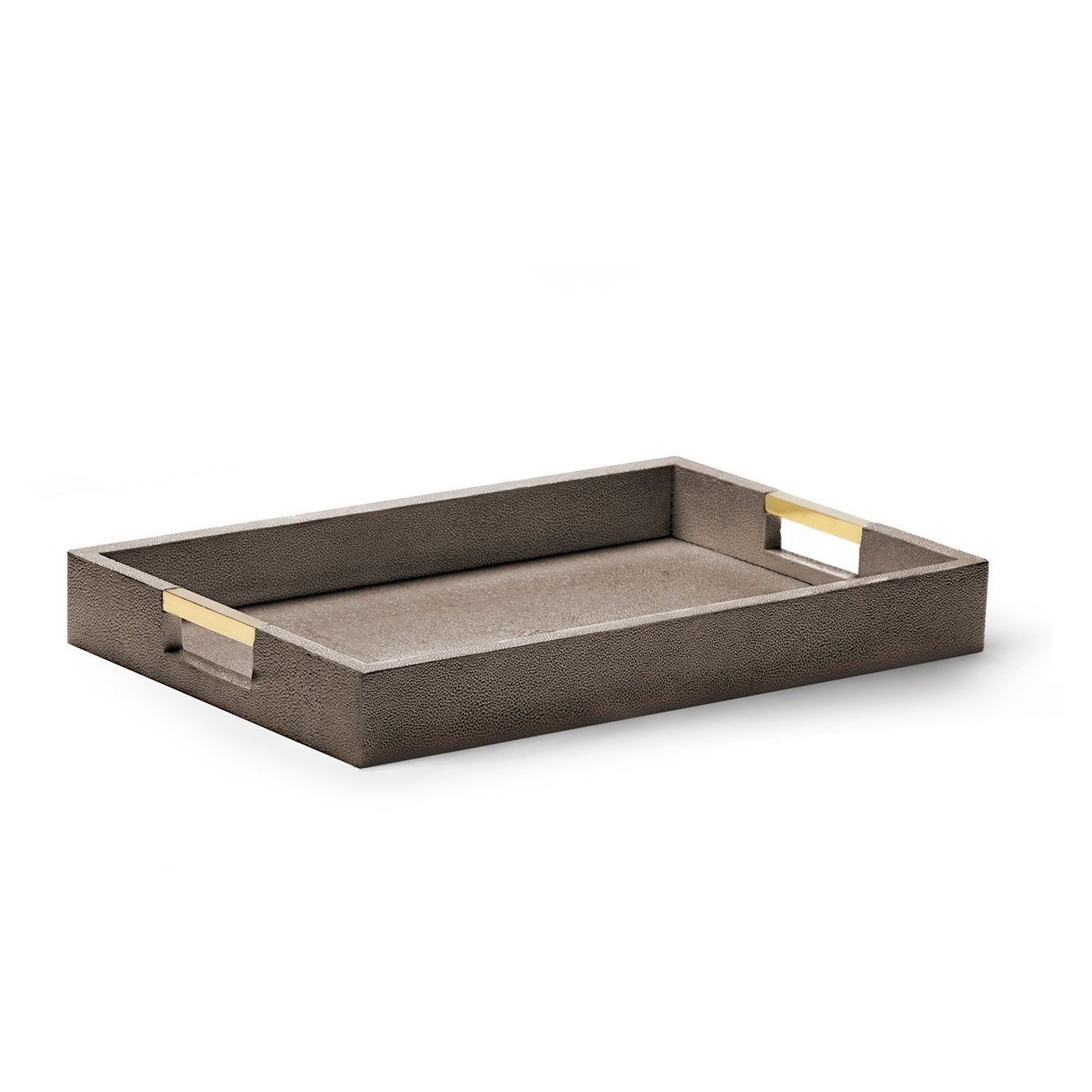 Aerin Classic Shagreen Serving Tray, Chocolate