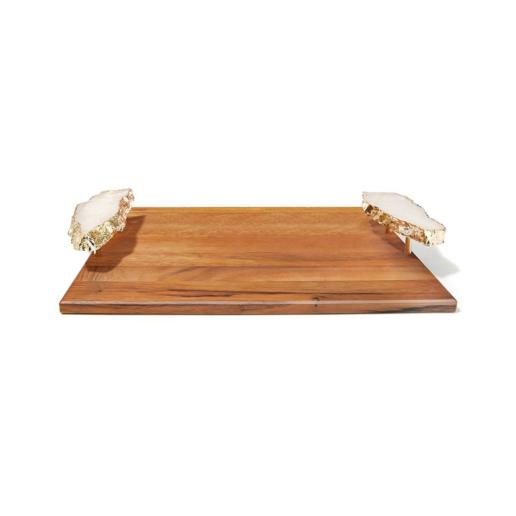 Anna by Rablabs Crystal & Gold Bosque Tray Large