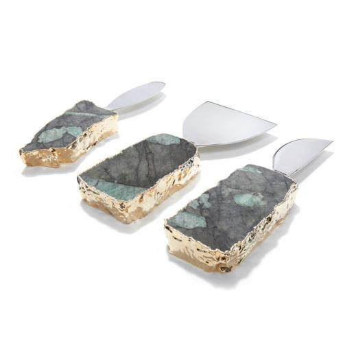 Anna by Rablabs Kiva Cheese Set Pure Emerald Gold Set of 3