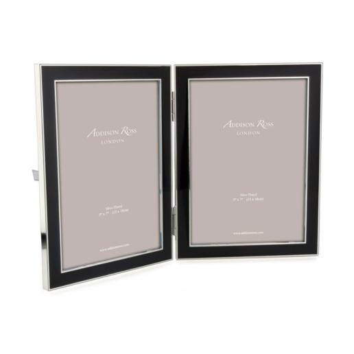 Addison Ross Black Enamel Double Frame 5x7