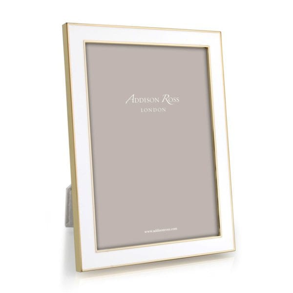 Addison Ross White Enamel Gold Frame Collection Michael