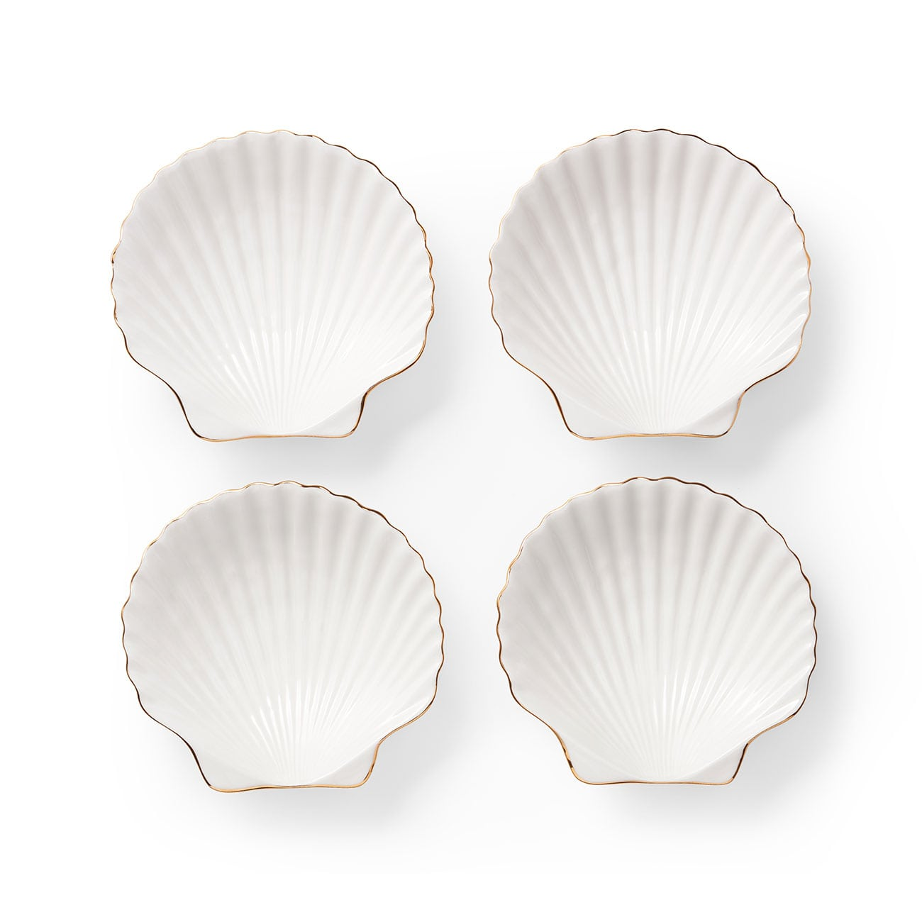 AERIN Shell Appetizer Plates, Set of 4
