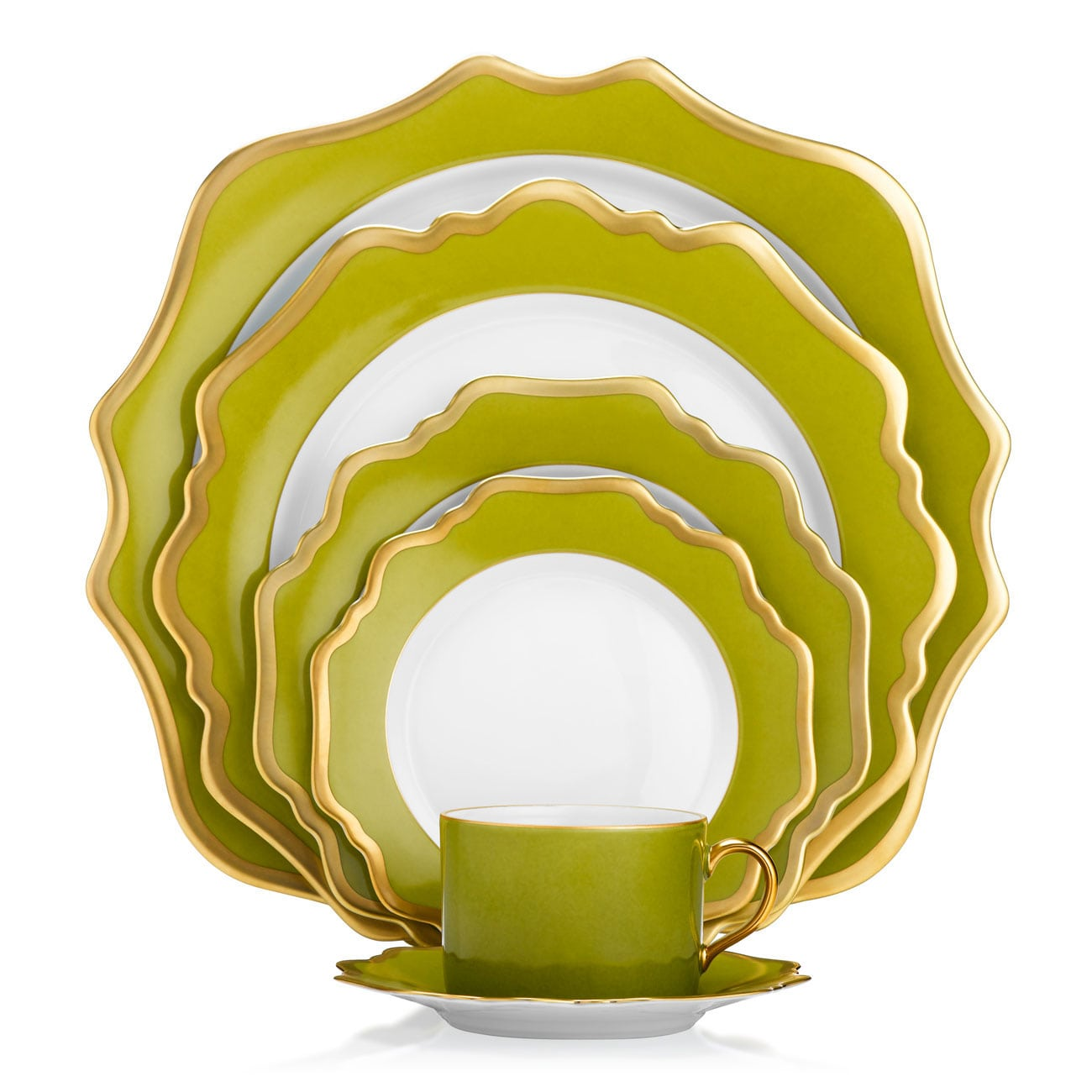 Anna Weatherley Anna's Palette Meadow Green Dinnerware Collection
