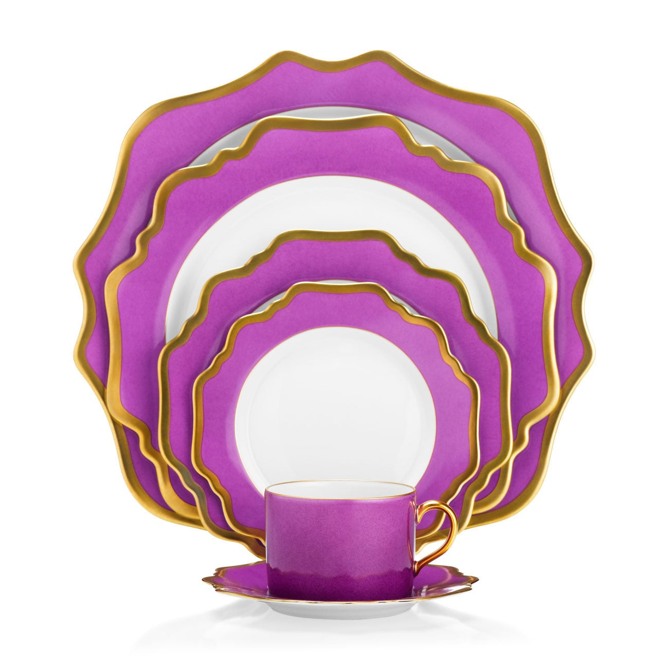 Anna Weatherley Anna's Palette Purple Orchid Dinnerware Collection