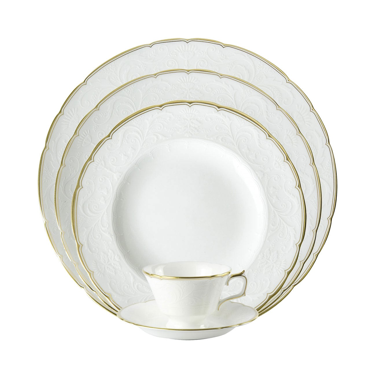 Royal Crown Derby Darley Abbey Pure Gold Dinnerware Collection
