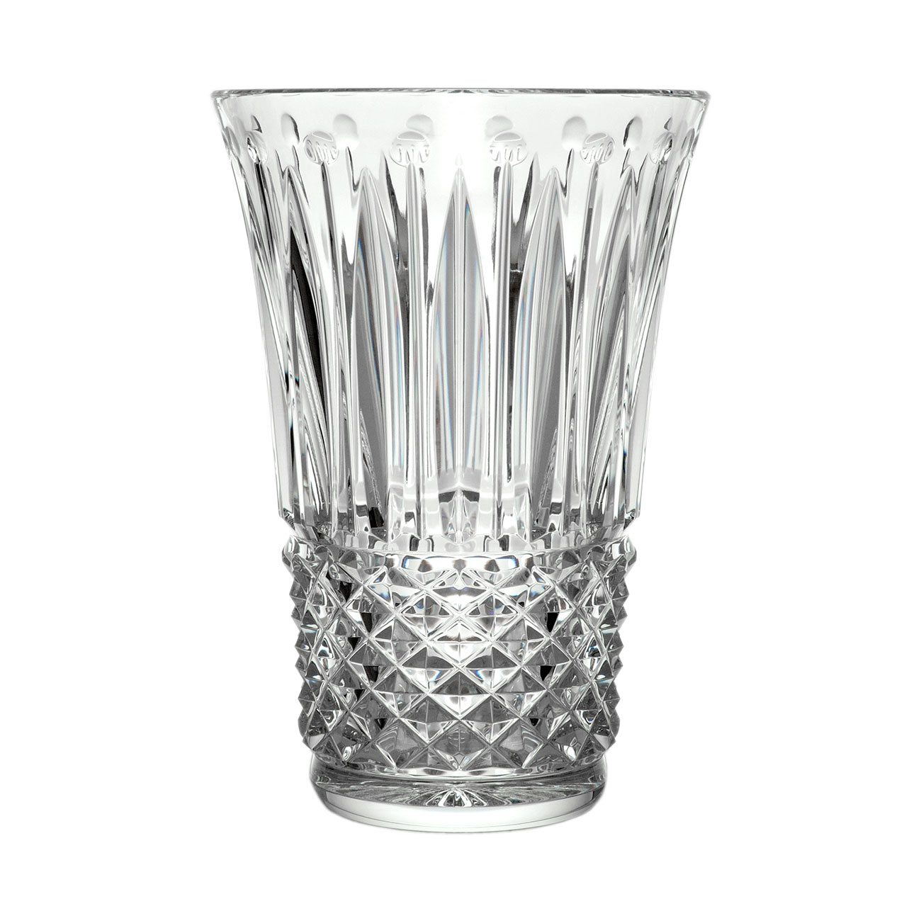 Saint-Louis Crystal Tommyssimo Clear Vase, 11-inch