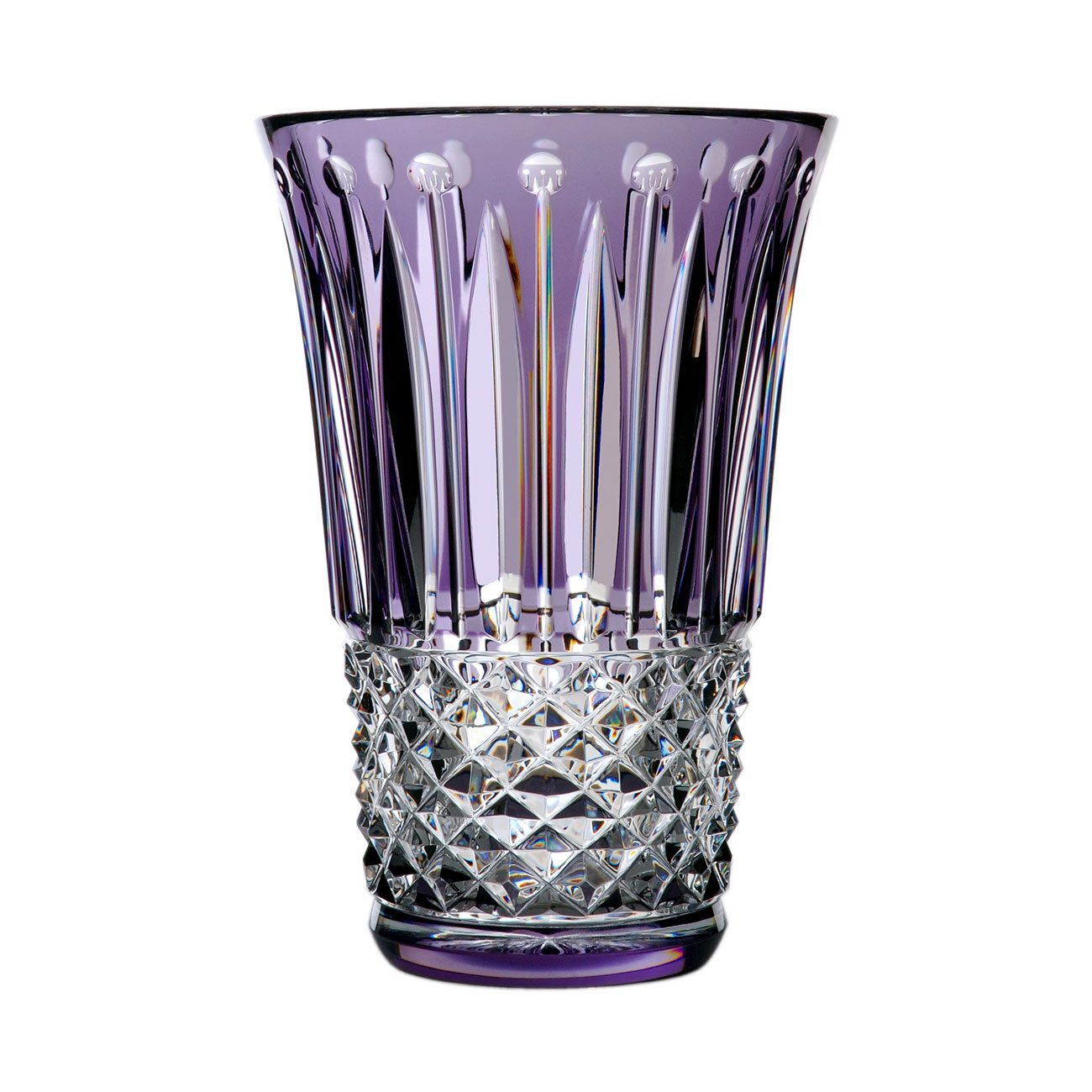 Saint-Louis Crystal Tommyssimo Vase Purple , 11-inch