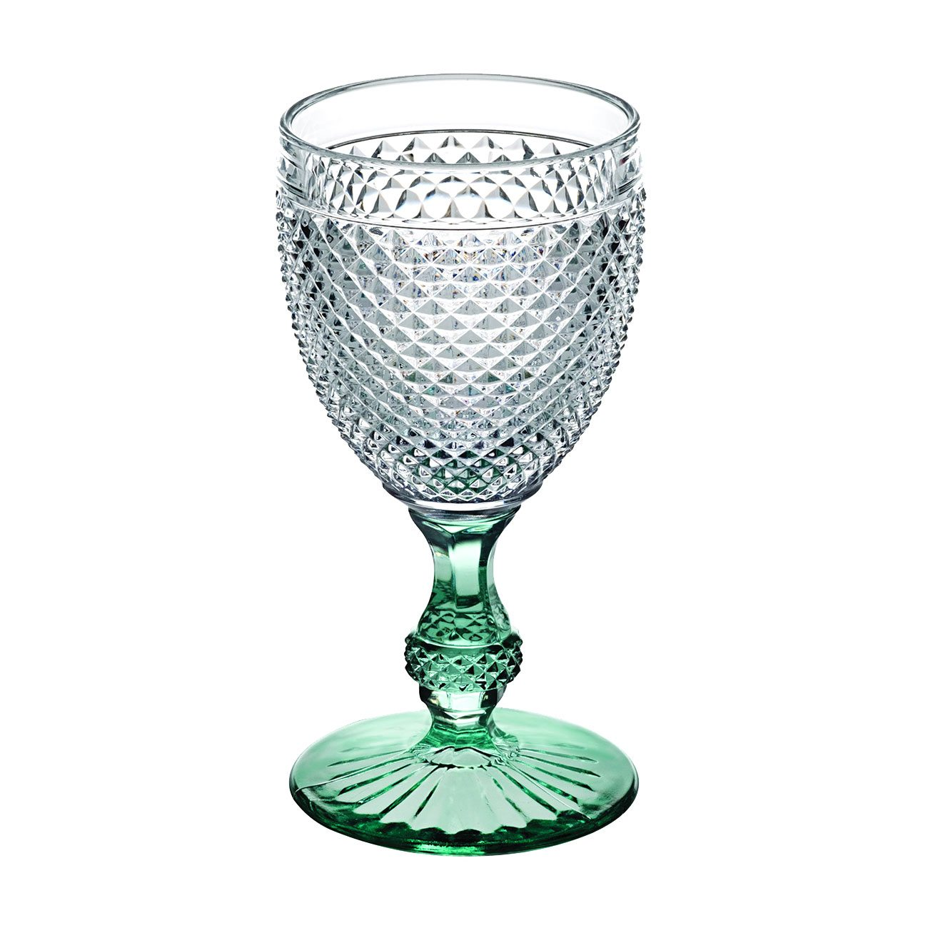 Vista Alegre Bicos Bicolor Goblet with Mint Stem
